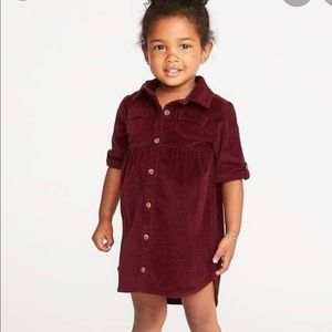 Old Navy button up corduroy dress 18/24 months